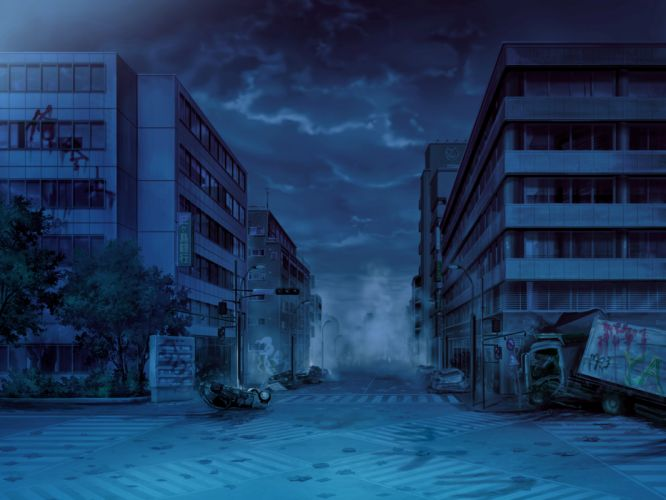 game cg night scenic worlds and world's end wallpaper