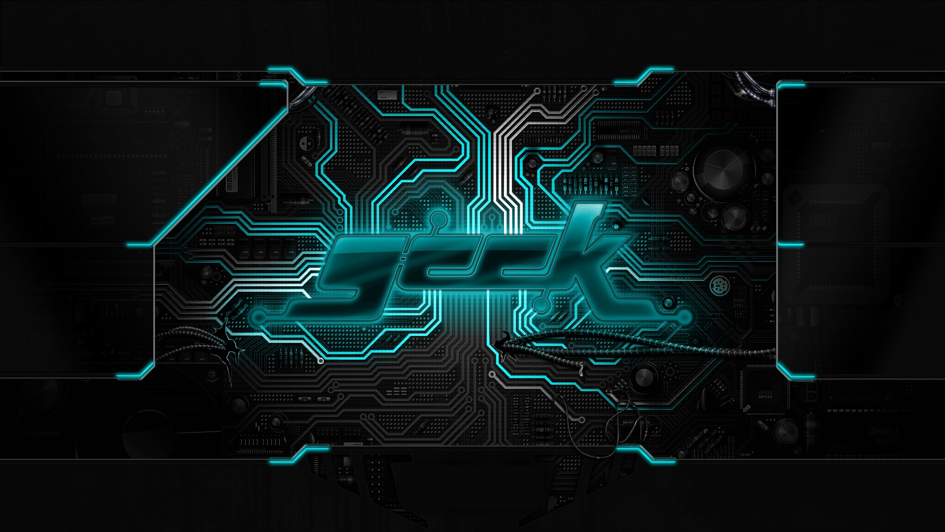 Neon Circuits Wallpaper And Background Image: Geek Chip Circuit Board Neon Wallpaper