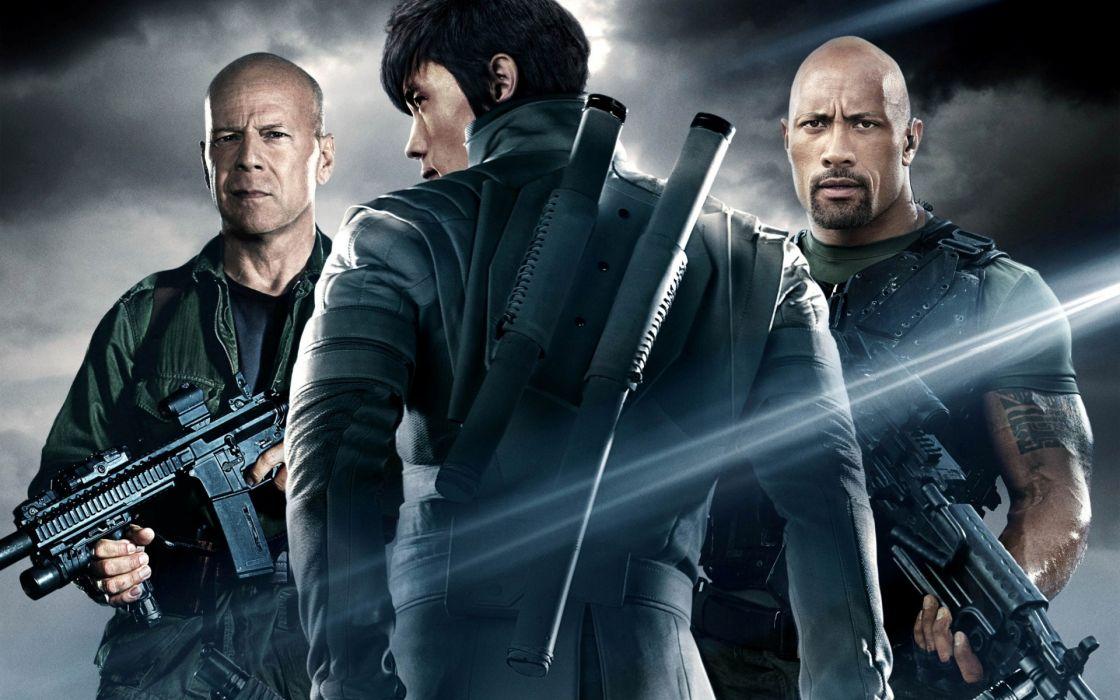 GI Joe The Rise of Cobra 2 Retaliation Bruce Willis Bruce Willis Joe Colton Lee Byung Hong Lee Byeong-Heon Storm Shadow Dwayne Johnson Dwayne Johnson Roadblock wallpaper