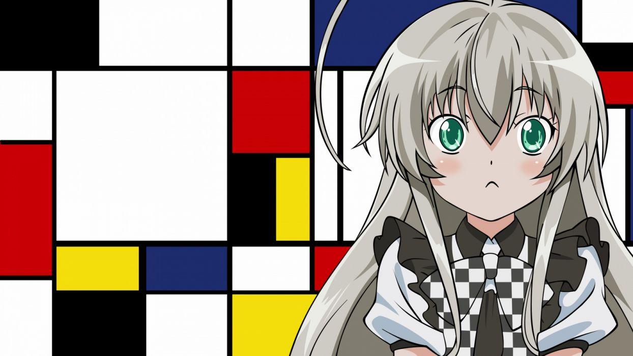 Gray Hair Green Eyes Haiyore Nyaruko San Nyaruko Wallpaper