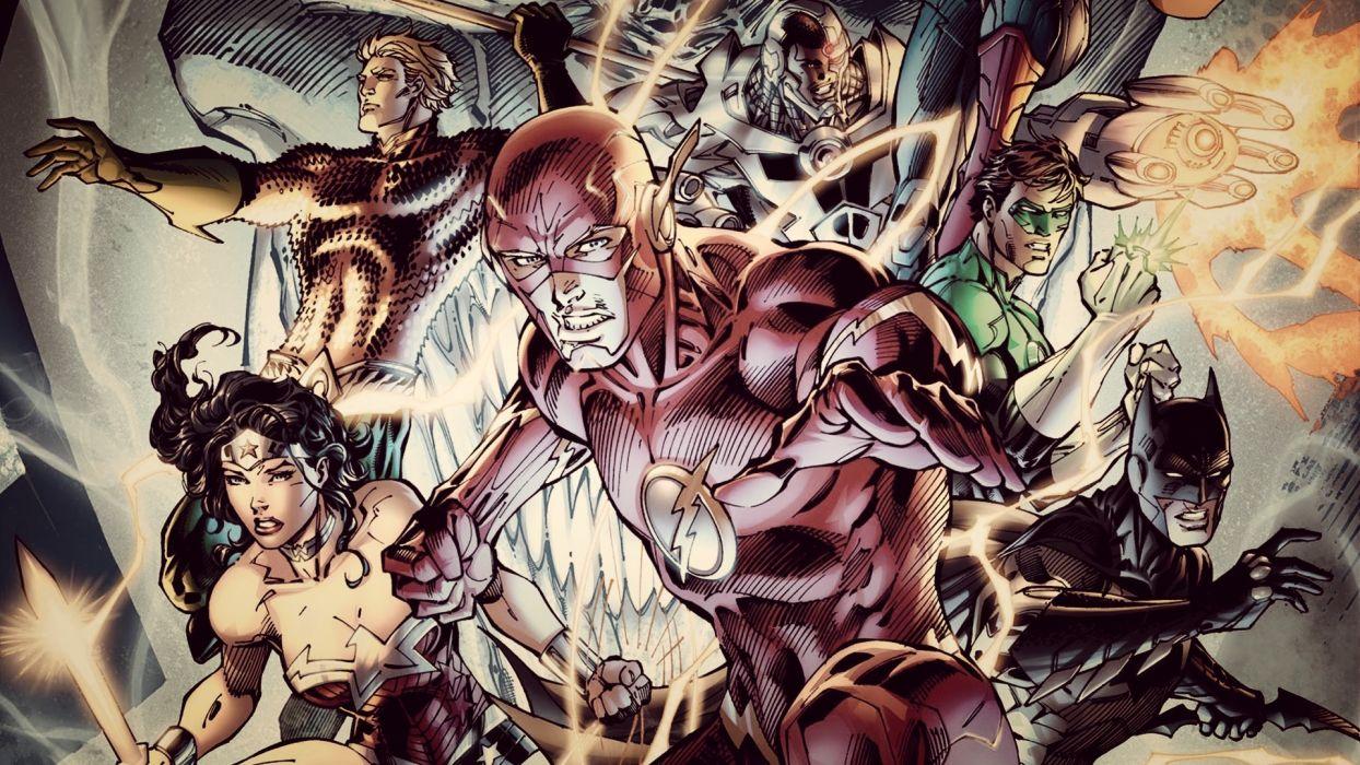 Justice League DC The Flash Batman Green Lantern Wonder Woman Aquaman wallpaper