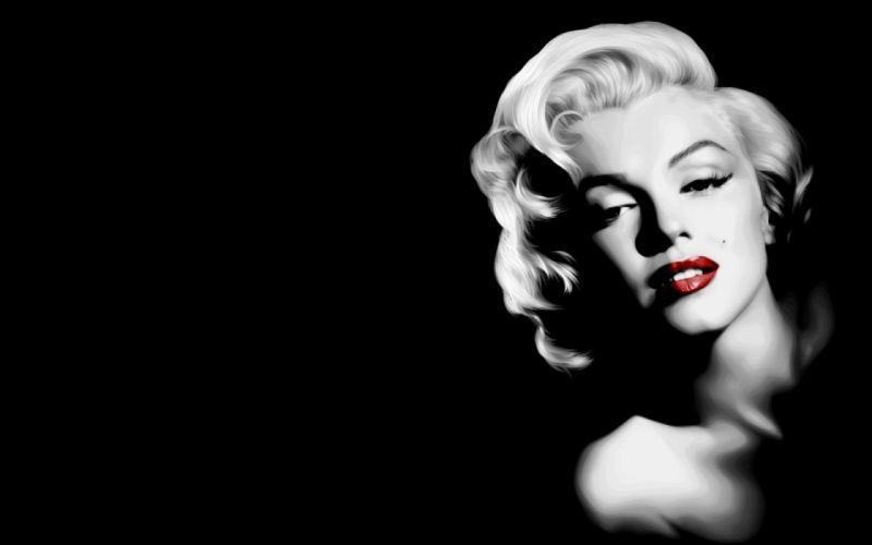Marilyn Monroe selective coloring lips wallpaper
