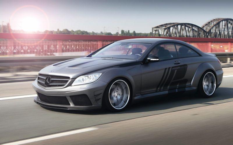 Mercedes CL Black Edition Wide Body Tuning Road Bridge Motion wallpaper
