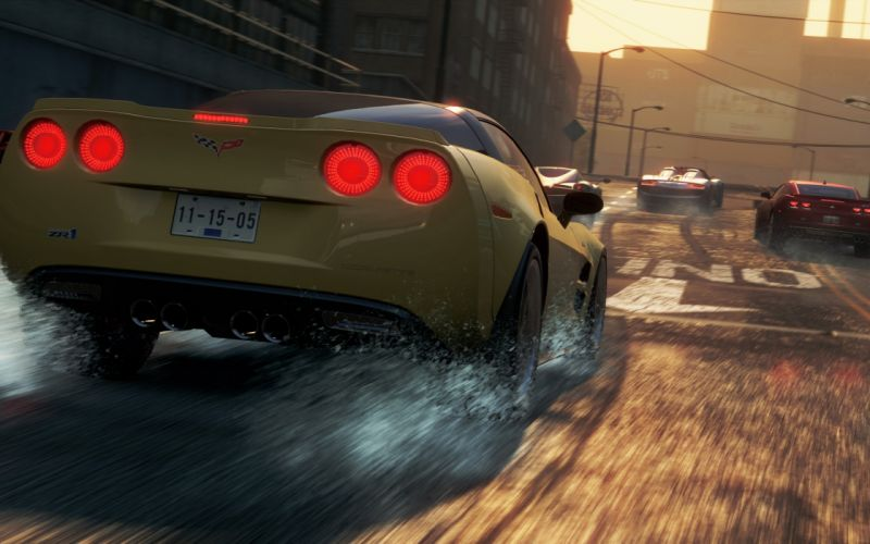 need for speed most wanted 2 ea chevrolet corvette race city wallpaper
