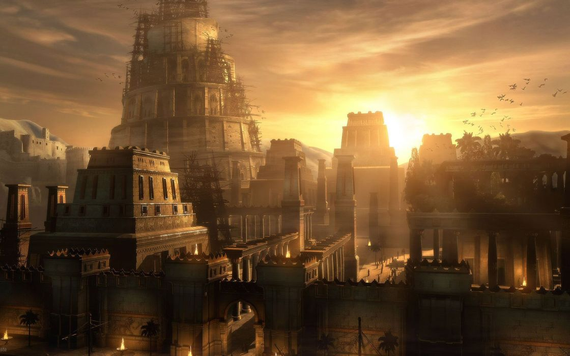 Prince of Persia City Sunset videogames wallpaper