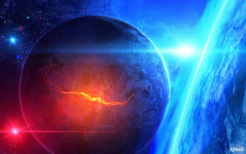 space stars qauz fault Art planet wallpaper