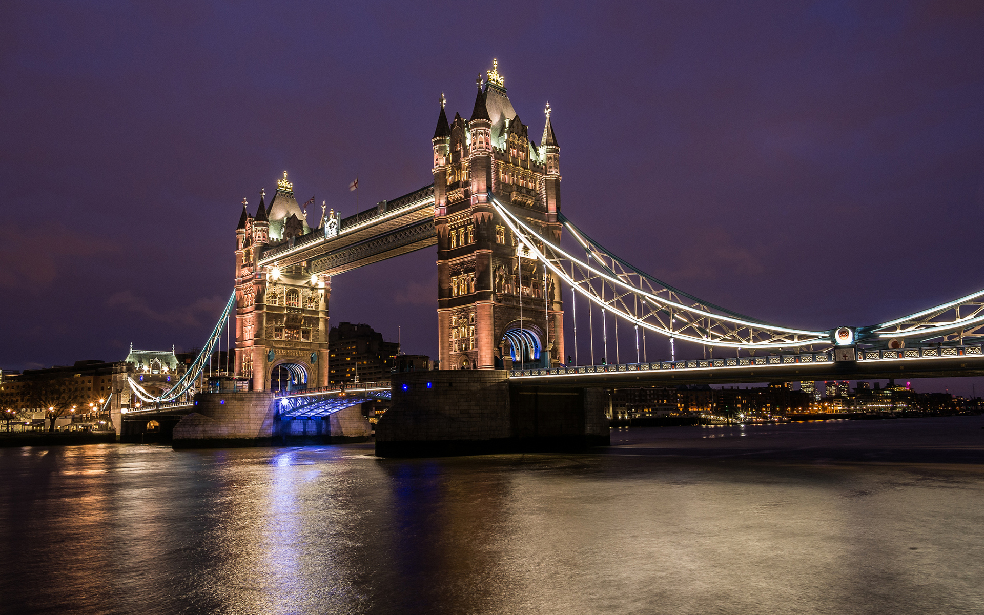 Tower Bridge London Bridge River Night Wallpaper