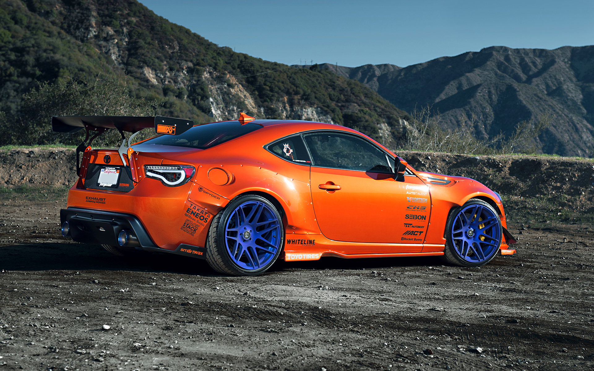 Toyota 86 Scion FR-S Tuning Widebody Spoilers Orange Style ...