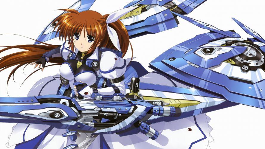 mahou senki lyrical nanoha force mahou shoujo lyrical nanoha takamachi nanoha weapon wallpaper