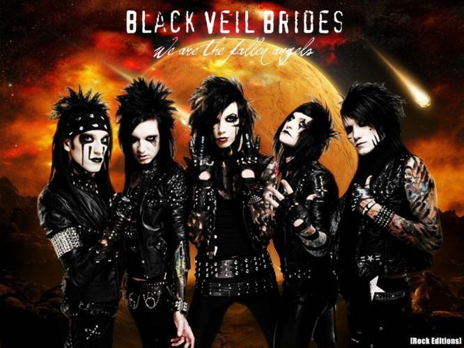 BLACK VEIL BRIDES heavy metal glam hard rock a wallpaper
