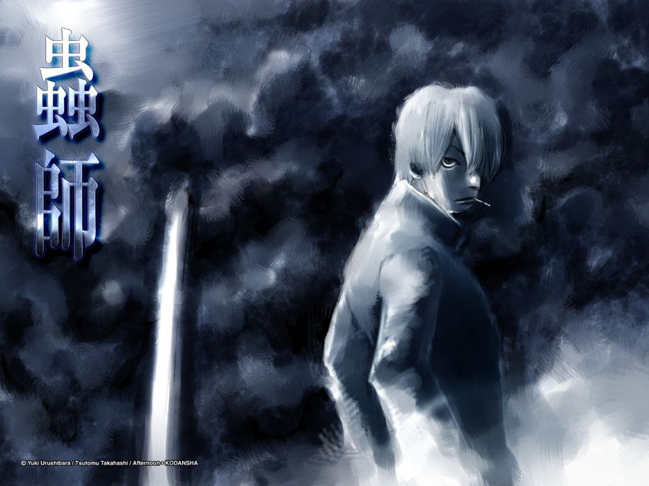 afternoon dark ginko (mushishi) mushishi smoking takahashi tsutomu wallpaper