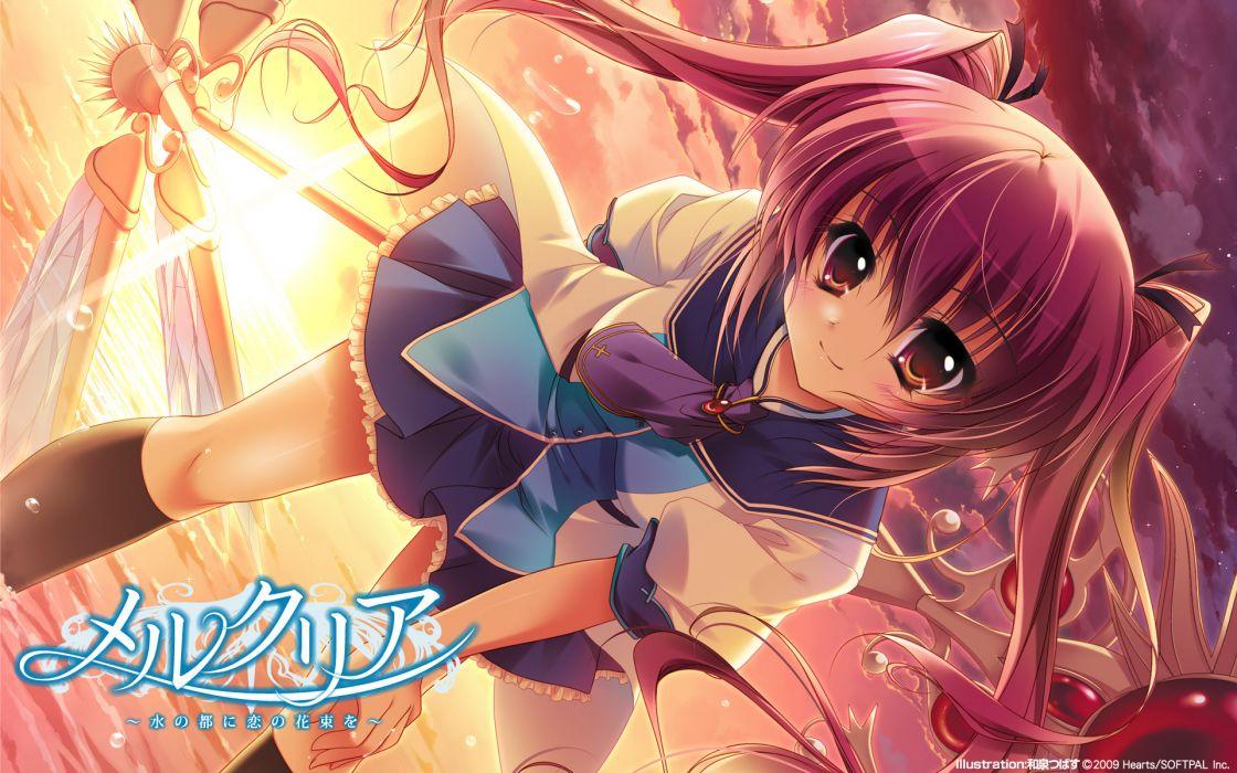 blush izumi tsubasu mercuria seifuku takamori himiko wallpaper