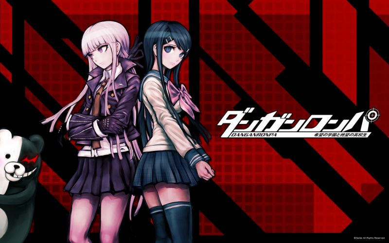 girls dangan-ronpa kirigiri kyouko long hair maizono sayaka tagme wallpaper