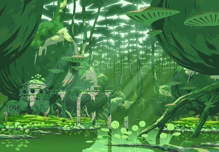 green landscape oban star racers scenic wallpaper