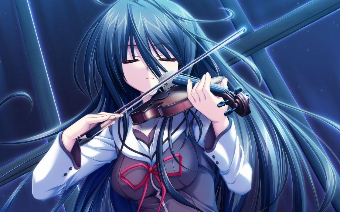 senjou no maou instrument usami haru violin wallpaper