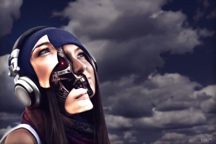 cyborg robot mech mechanical l wallpaper