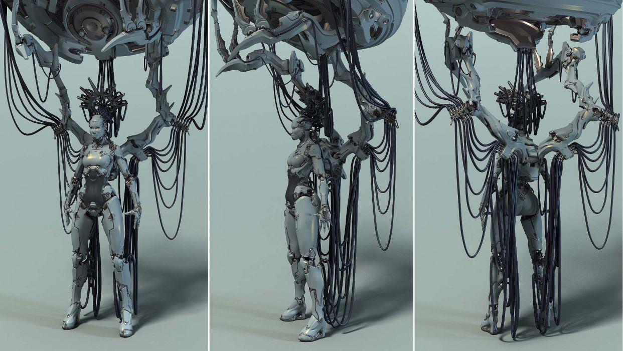 cyborg robot mech mechanical      j wallpaper