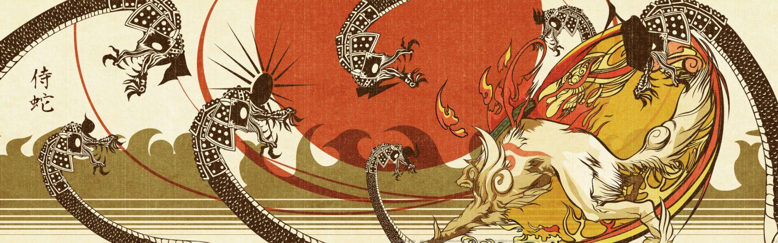 amaterasu dualscreen okami scan wallpaper