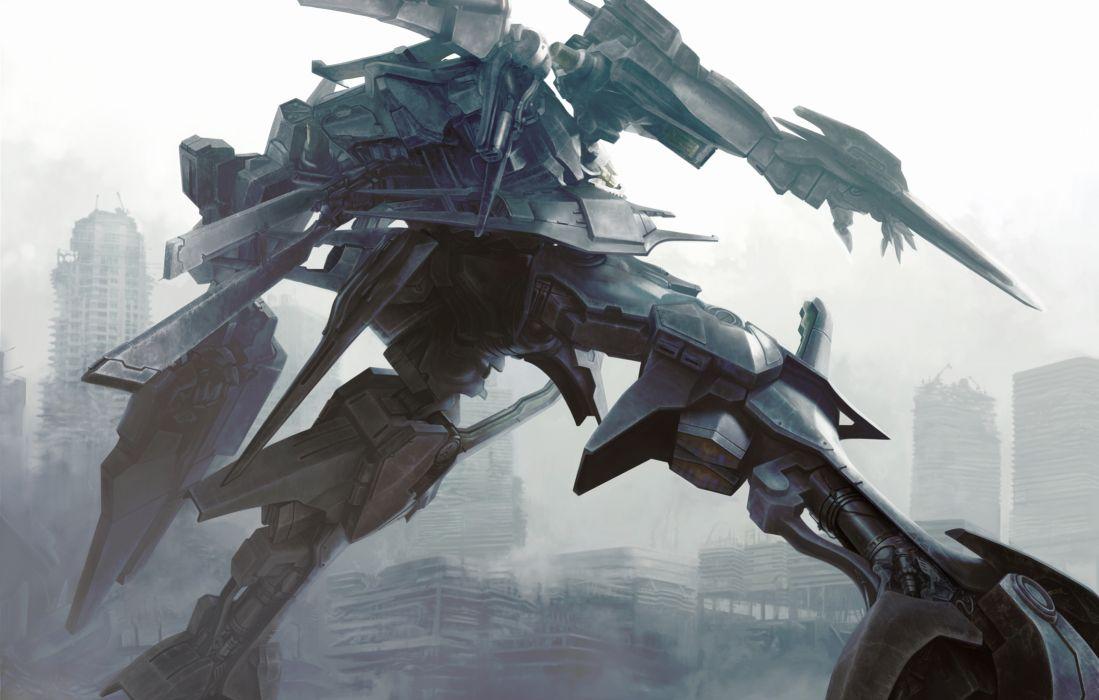 anjou armored core armored core 4 kawanakajima mecha orleans ruins tagme wallpaper