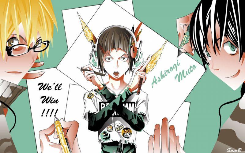 bakuman mashiro moritaka niizuma eiji takagi akito wallpaper