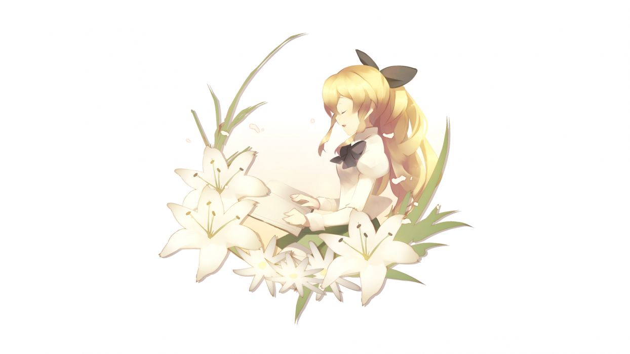 blonde hair katawa shoujo satou lilly wallpaper