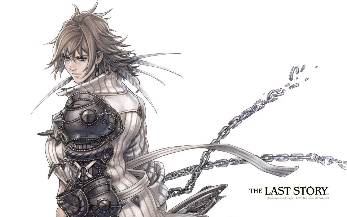 armor chain ezla male the last story white wallpaper