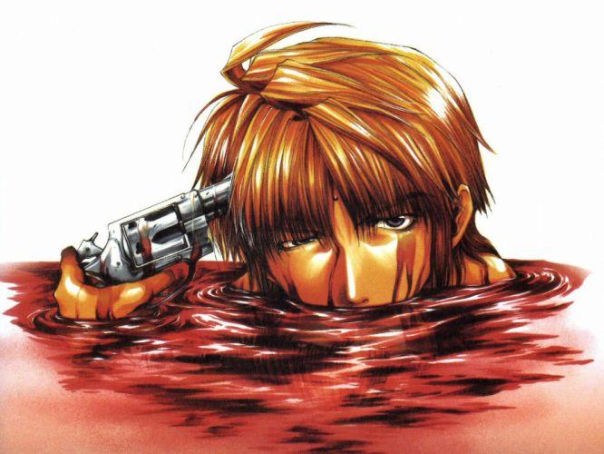 blood genjo sanzo gun saiyuki weapon wallpaper