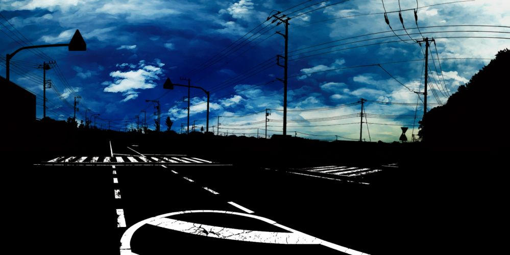 blue clouds dark original scenic shimei jien sky wallpaper