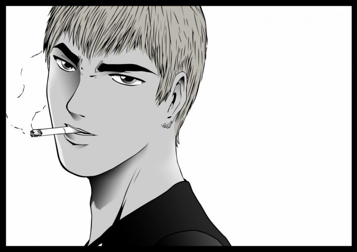 eikichi onizuka great teacher onizuka male monochrome wallpaper