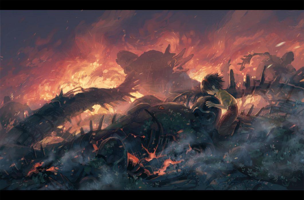 fire ghibli laputa- castle in the sky seeker wallpaper