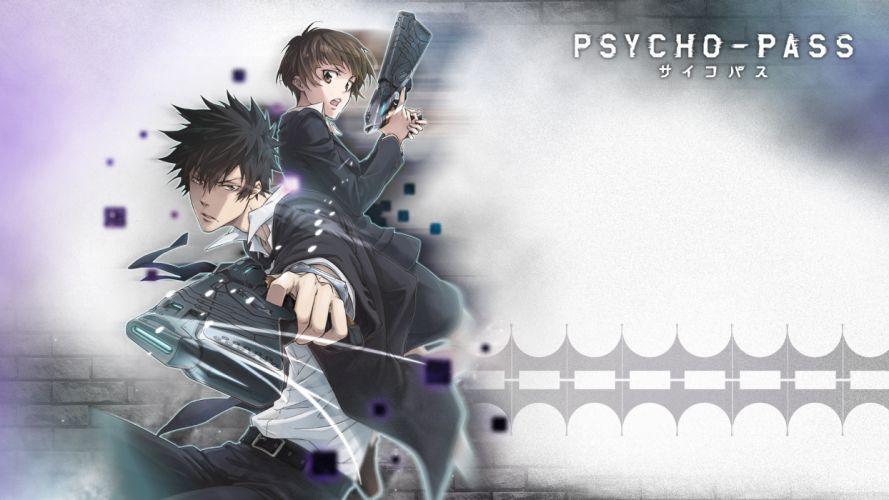 kougami shinya psycho-pass tsunemori akane weapon wallpaper