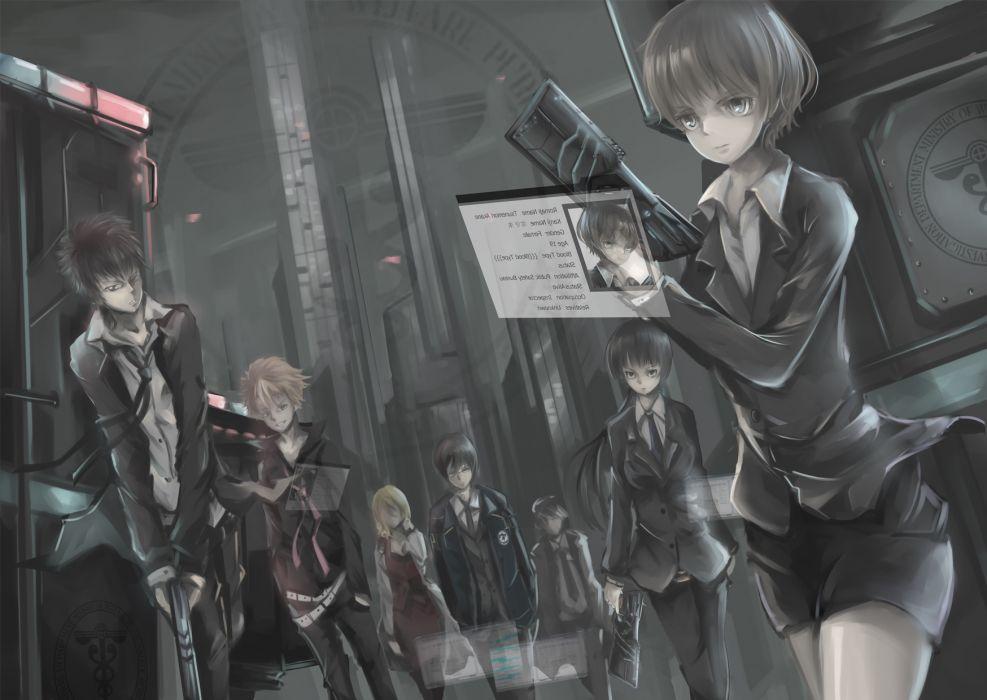kougami shinya psycho-pass tsunemori akane wallpaper