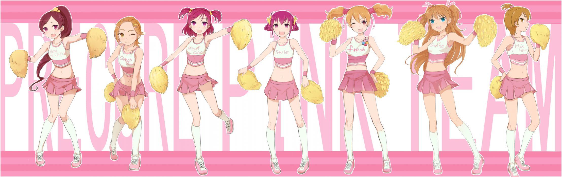 hanasaki tsubomi hoshizora miyuki houjou hibiki hyuuga saki misumi nagisa momozono love smile precure suite precure yes! precure 5 yumehara nozomi wallpaper
