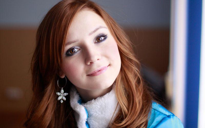 girl hair blue eyes beautiful wallpaper