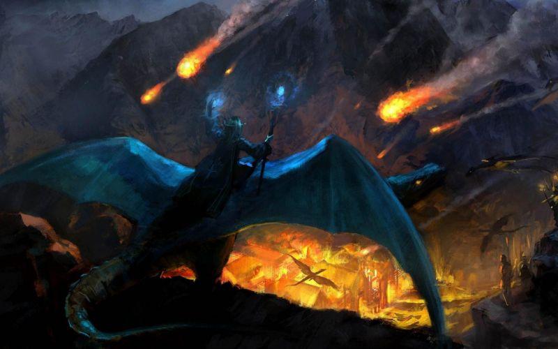 Dragon Wizard Drawing wallpaper