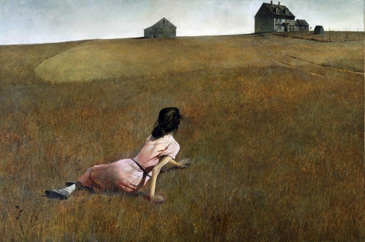 Farm Woman Drawing House wallpaper