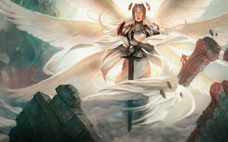 Magic The Gathering Drawing Wings Sword Iona wallpaper