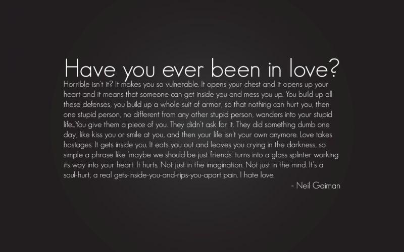 Neil Gaiman Love wallpaper
