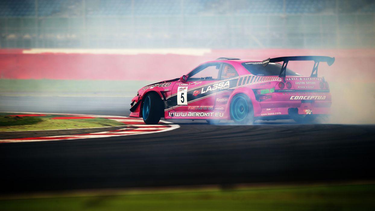 Nissan Skyline GTR Drift Smoke wallpaper