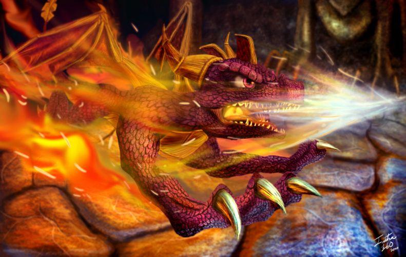 Spyro fantasy dragon dragons q wallpaper