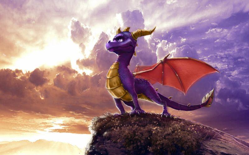 Spyro fantasy dragon dragons wallpaper