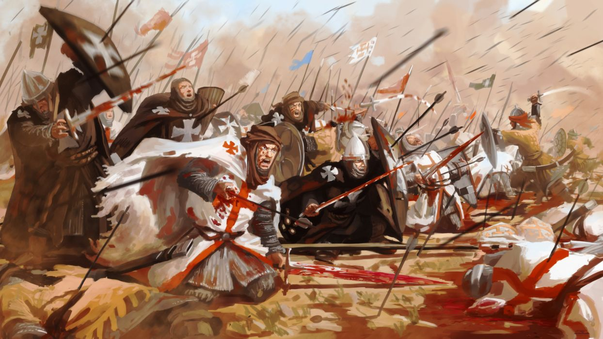 Battles Warriors Middle Ages Fantasy wallpaper
