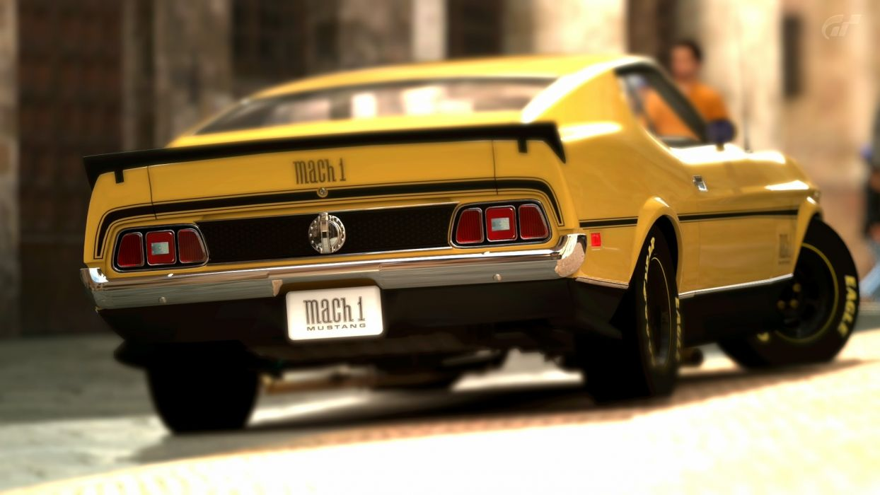 Gran Turismo Ford Mustang Mach 1 CG muscle wallpaper