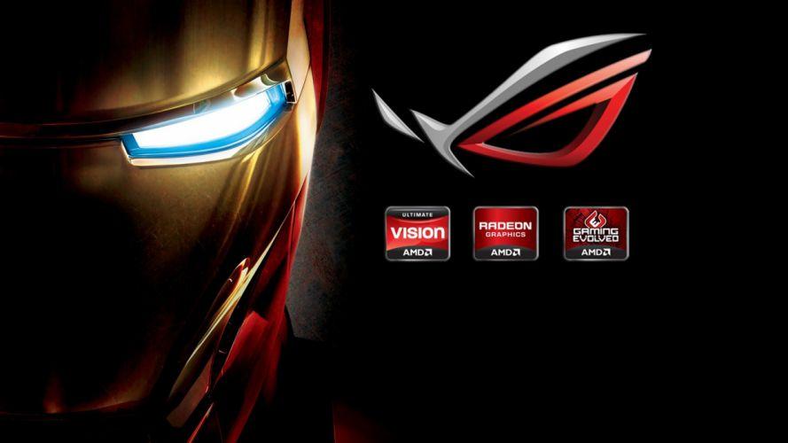 hi-tech Iron man iron man tony stark mask brand brand logo company Asus wallpaper