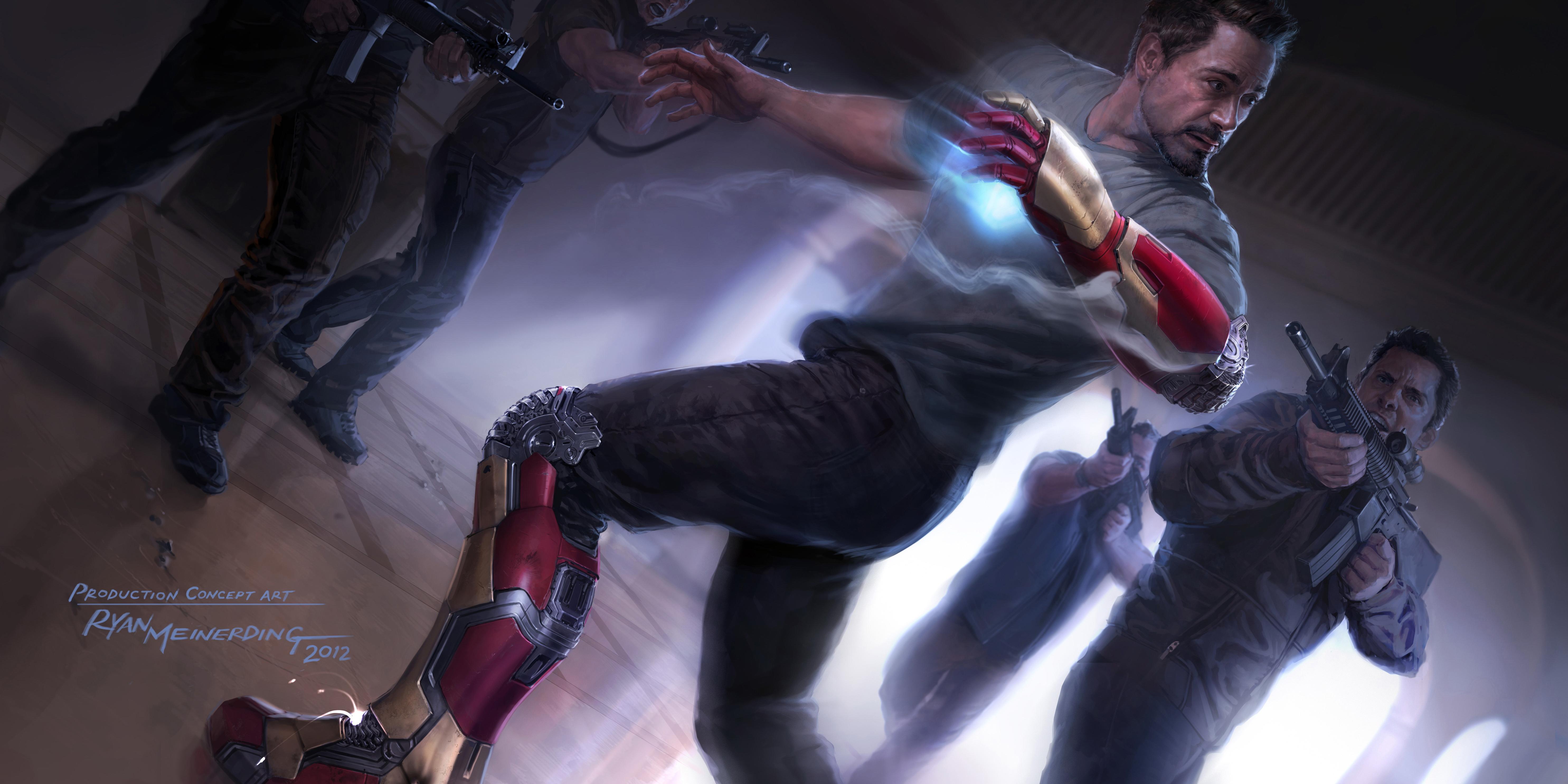 Iron Man Comic Art Iron Man Painting Art Robert