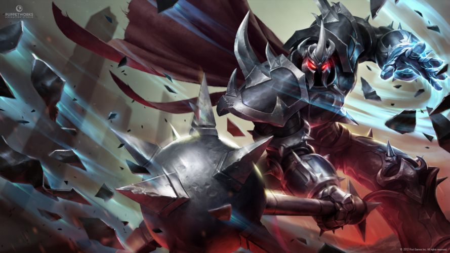 League of Legends Warriors Monsters Armor Games Fantasy wallpaper