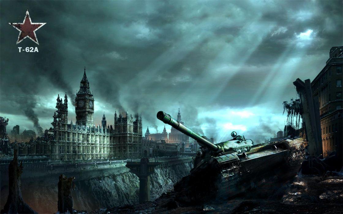 World of Tanks Tanks Apocalypto United Kingdom T-62A wallpaper
