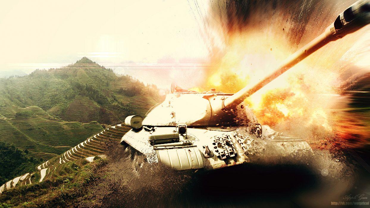 World of Tanks Tanks Firing Games wallpaper