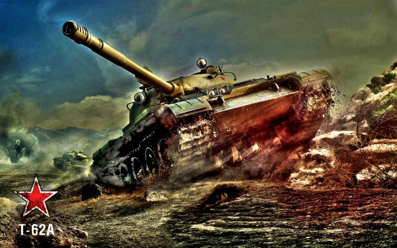 World of Tanks Tanks T-62AA HDR Games military wallpaper