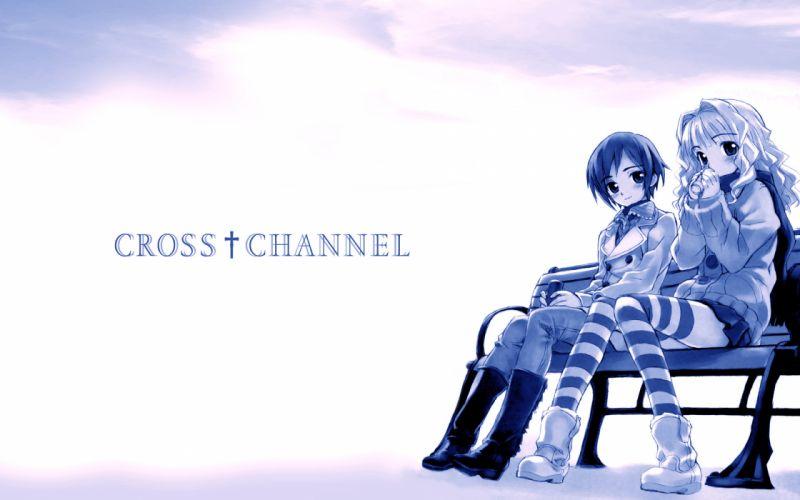 cross channel polychromatic wallpaper